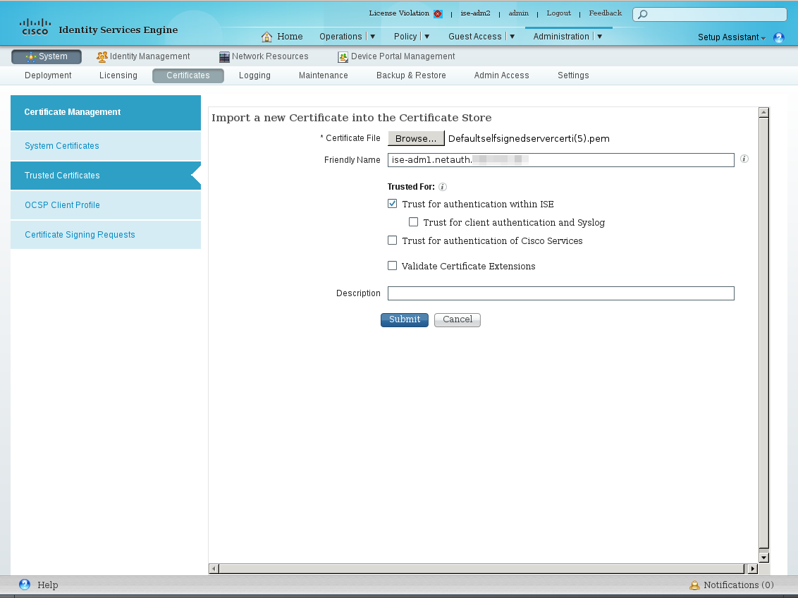 Cisco Ise 14 Change Fqdn Of Primary Administration Node Config If