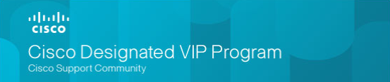 Cisco Designated VIP Program 2018